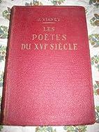 Chefs-d'Œuvre Poétiques du XVI eme Siècle…