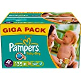 Pampers Baby Dry Size 4+ (Maxi +) Giga Pack 135 Nappies