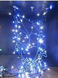 【ノーブランド】 LED STRING WRAP SET (LED ストリングライト ケーブル 収納 ラップ 付き)ホワイトブルー
