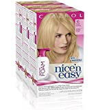 3x Nice n Easy Colour Blend Foam Permanent Hair Dye 10 EXTRA LIGHT BLONDE