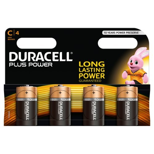 Duracell-Plus-Power-Alkaline-Batterien-C-MN1400LR14-4er-Pack
