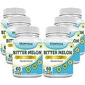 Morpheme Bittermelon (Karela) 500mg Extract 60 Veg Caps - 6 Bottles