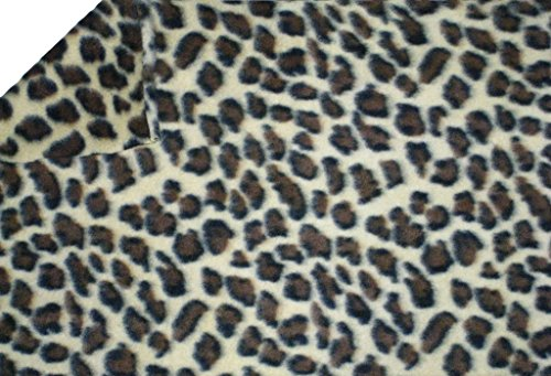 La Linen Polar Fleece Fabric, 2.5-Yard By 58-Inch, Leopard Print front-881157