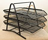 Tootpado 3 Tier Magazine Newspaper Tray Metal Mesh Desk Organiser