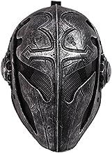 OneTigris Tactical Airsoft Game Máscara De Protección Facial Máscara de caballero templario para hombre