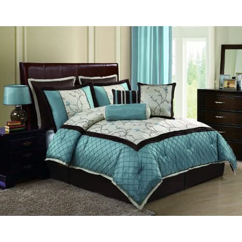 Amazon.com - Victoria Classics Alexandria8-Piece Queen Comforter Set