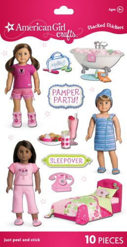 American Girl Crafts Stacked Stickers, My American Girl Doll Spa front-496358