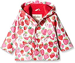 Hatley Baby Strawberry Sunday Infant Raincoat, Pink, 18-24 Months