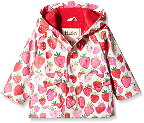 Hatley Baby Strawberry Sunday Infant Raincoat, Pink, 12-18 Months