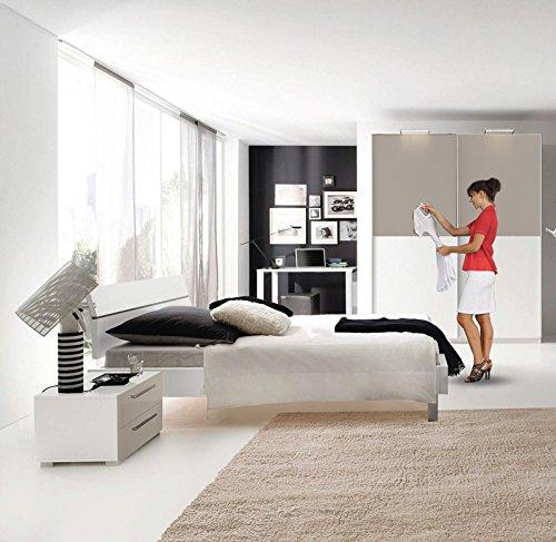Jugendzimmer Schlafzimmer Set »FLOYD221« alpinweiß, Sandgrau Hochglanz günstig online kaufen