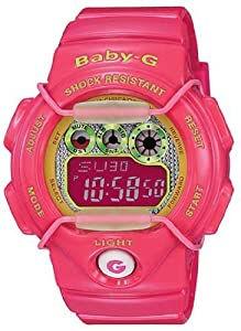 Casio BG1005M-4 Women's Baby-G Red Resin Alarm World Timer Watch