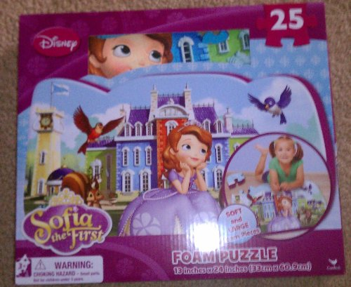 1 X Disney Sofia The First 25 Pieace Foam Puzzle Soft and large