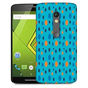 Snoogg Colorful Spots Blue Pattern Designer Protective Phone Back Case Cover For Moto G 3rd Generation