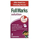 Full Marks Solution - Head Lice Solution With Comb - 2 Treatments - 100ml