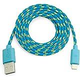 Datenkabel / Ladekabel USB Kabel f�r iPhone 6 Plus und 5 ,5s 5c Kompatibel auch iPad Mini, IPod Touch 5, Ipod Nano 7 geflochten Blau 1 Meter
