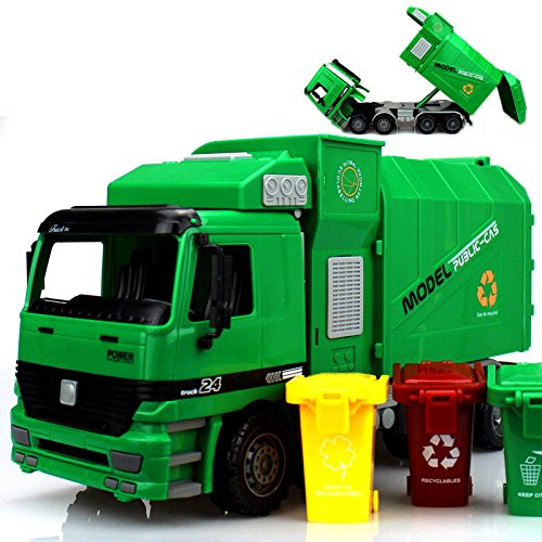 Toy Trucks For Boys : Creker children garbage truck toys for boys sanitation