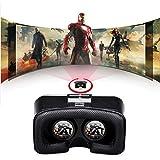 SHUSONS 3D VRメガネ ゴーグル 超3D映像効果 4 - 6インチのスマートフォンに適用  ヘッドマウント用 ヘッドバンド付き(ブラック)【日本語取説書と1年間保証書付き】