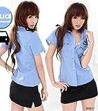 JP0837婦警婦人警官警察コスプレ衣装コスチューム制服3点セットレディース3700032601(M)
