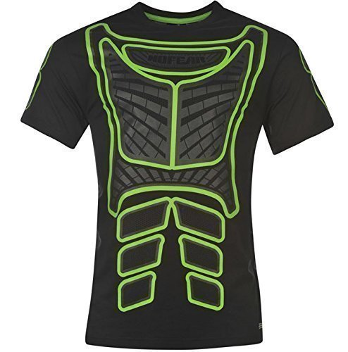 No Fear Motocross T-Shirt - Nero/Verde, M