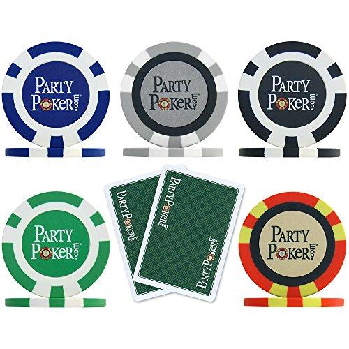 partypoker. com-300Pièces, 14g de poker puce de poker de la marque Étui en aluminium