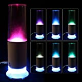 2 in 1 Mini USB Speaker LED Colorful Touch Sensor Water-drop Table Lamp Night Light