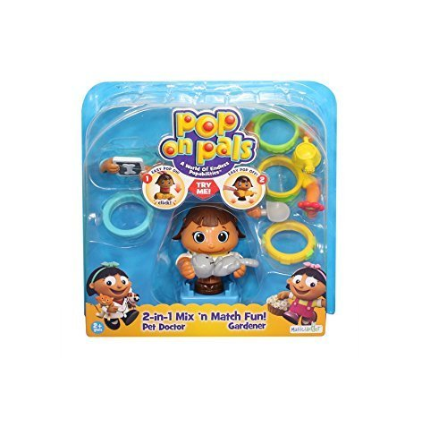 Pop On Pals Pet Doctor and Gardener by Spin Master