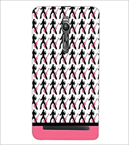 PrintDhaba Music pattern D-1911 Back Case Cover for ASUS ZENFONE 2 (Multi-Coloured)