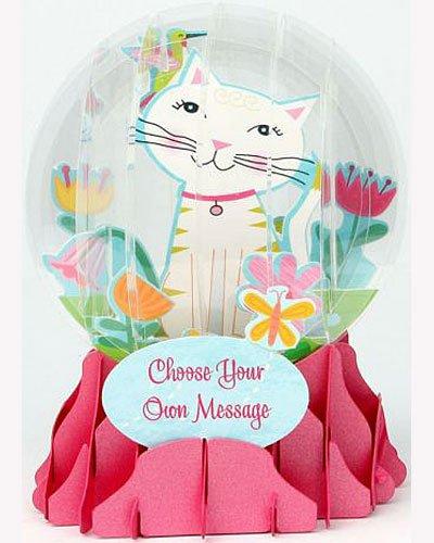 3D Snow Globe - Big Cat - All Occasion Card