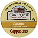 Grove Square Cappuccino, Caramel, 24-Count Single Serve Cup for Keurig K-Cup Brewers