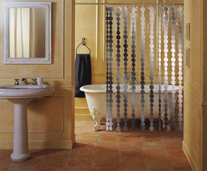 Rideau de Douche 'Luxury' 180x200 cm Argent