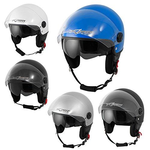 Casco-Jet-Scooter-Moto-ECE-22-Doppia-Visiera-Parasole-A-PRO