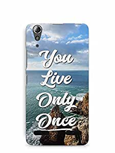 YuBingo You Live Only Once Designer Mobile Case Back Cover for Lenovo A6000