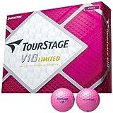 BRIDGESTONE(ブリヂストン) TOURSTAGE ツアーステージ V10 LIMITED(リミテッド)1ダース(12球入り) ピンク