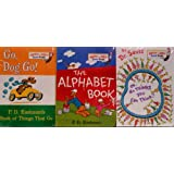 Bright and Early Board Books- 3 Board Book Set B (Go, Dog. Go / The Alphabet Book / Oh the Thinks You Can Think) ~ P. D. Eastman