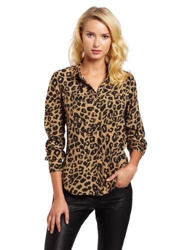 Isaac Mizrahi Jeans Women's Leopard Alexis Shirt