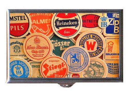 beer-coasters-retro-heineken-amstel-stiegl-guitar-pick-or-pill-box-usa-made