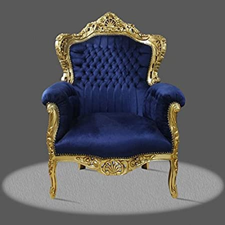 baroque armchair carved louis pre victorian antique style rococo NkCh0500GoBlvelour velvet
