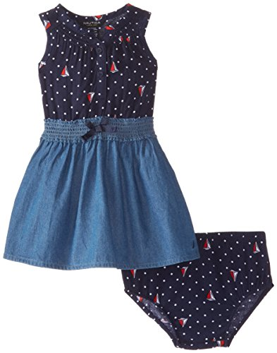 Nautica baby girls 39 smocked chambray and printed challis for Cuisine you chambray