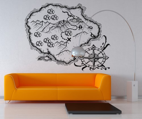 Pirate Treasure Map Wall Decals Funkthishouse Com Funk