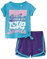Puma - Kids Baby-girls Infant Jersey Tee and Short Set from Puma - Kids
