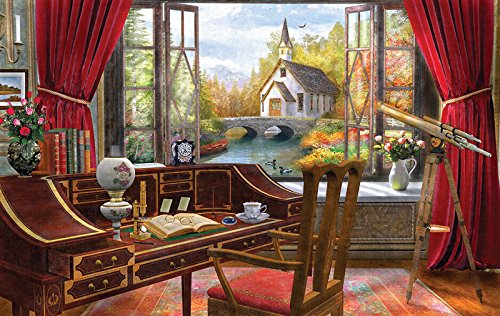 Study View a 550-Piece Jigsaw Puzzle by Sunsout Inc.