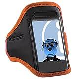 ITALKonline LG GW300 Orange Black Adjustable Water / Moisture Resistant Sports GYM Jogging Running ArmBand Arm Band Case Cover with Key Money Headphone Pocket