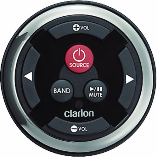 Clarion MW2 Watertight Black Face with Stainless Steel Bezel Remote for 2009 Marine Source Units