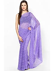 Rajasthani Sarees Ethnicwear Chiffon Bandhej Printed Saree For Women (RS45)