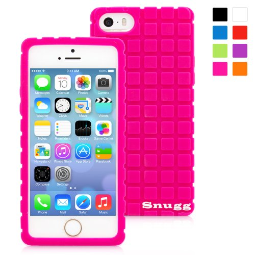 Snugg iPhone 5 / 5S Silicone Case in Hot Pink - Non-Slip Material, Protective and Soft to Touch for the Apple iPhone 5 / 5S