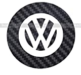 VW フォルクスワーゲン ステアリング ロゴ デコレーション シール カーボン ブラック