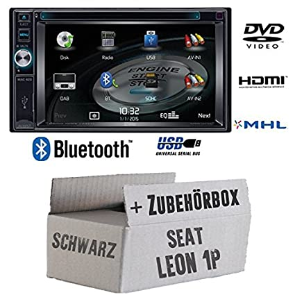 Seat leon 1P (2DIN noir-mAC audio mAC 420-2DIN dVD bluetooth uSB avec kit de montage