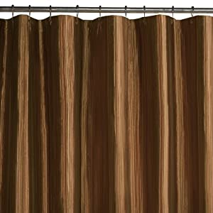 Amazon.com: Maytex Samantha Fabric Shower Curtain, Brown: Home ...