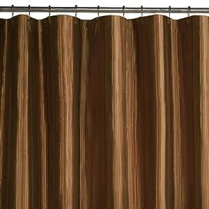 Amazon.com: Maytex Samantha Fabric Shower Curtain, Brown: Home ...