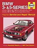 Haynes Manual for BMW 3- and 5-Series Petrol (81 - 91) up to J including an AA Microfibre Mitt